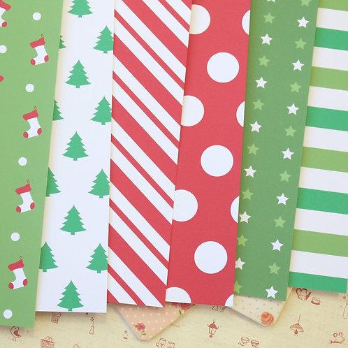 set 07 christmas patterns printed card stock