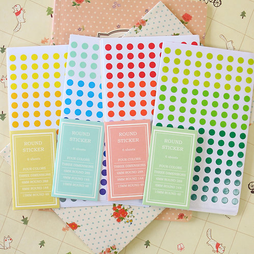 dailylike round color dots deco stickers