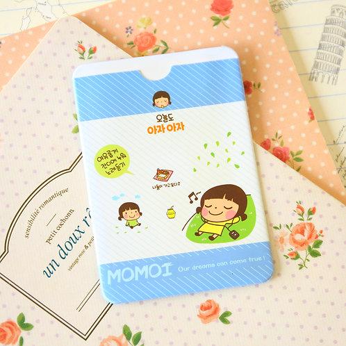 sleep momoi girl cartoon card holder