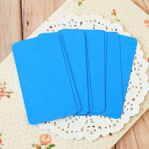 deep blue blank business cards