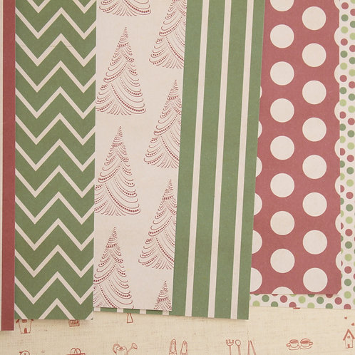 set 02 christmas is coming mix printed card stock