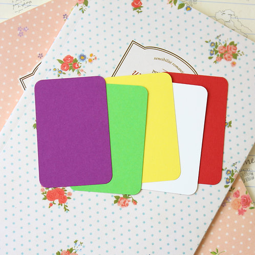 summer garden mix papermill colour blank business cards