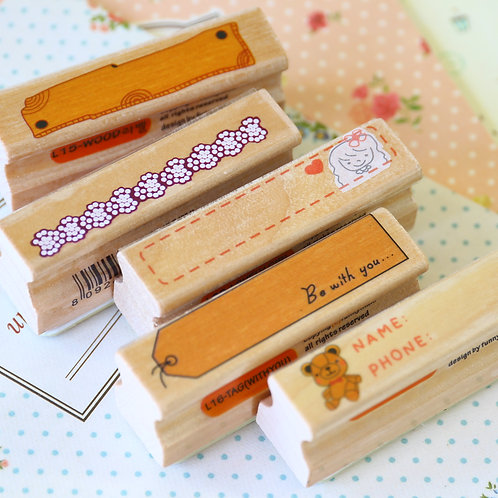 funnyman long line cartoon rubber stamps