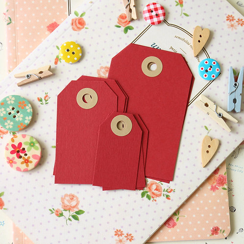 ruby red papermill series luggage gift tags