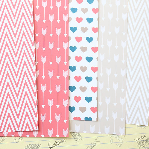 set 02 arrows hearts and chevron printed card stock