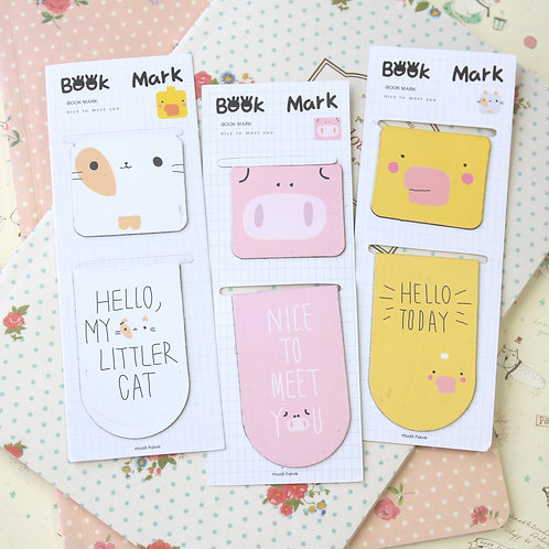 hello animals cartoon magnetic bookmarks