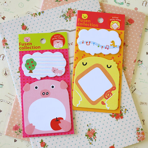 fusen collection animals shapes cartoon sticky notes