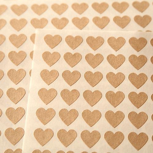 heart kraft paper sticker label sheets