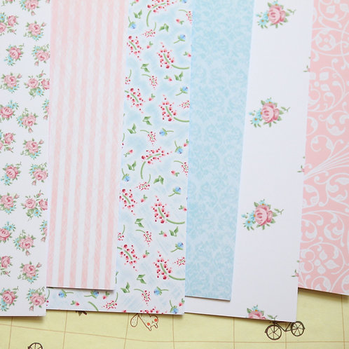 set 01 country cottons mix printed card stock