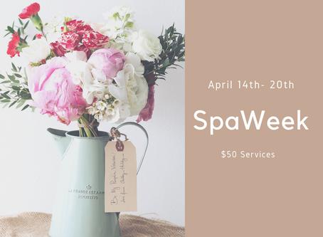 Spa Week at Bliss April 14th -20th