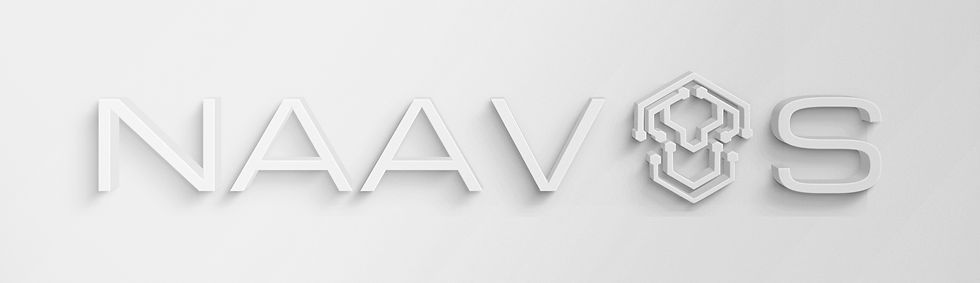 NAAVOS White 3D Text Effect_The O replac
