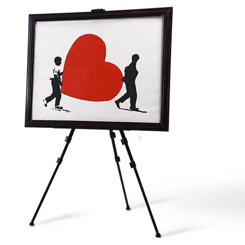 Boys carrying heart