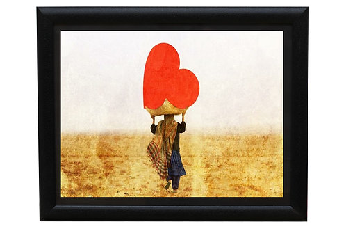 Girl Carrying a heart