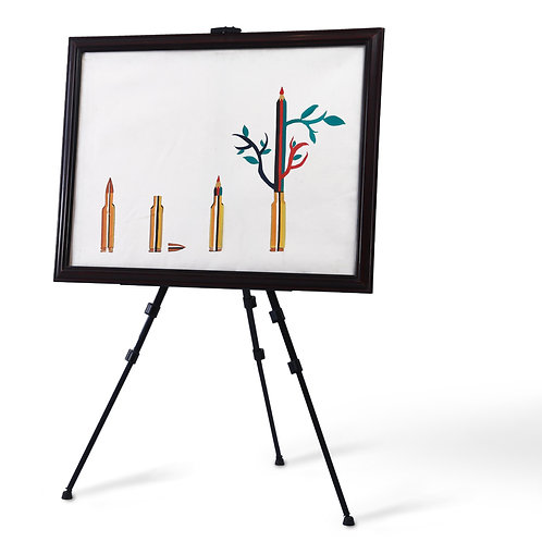 Transformation, from bullets to pen and tree