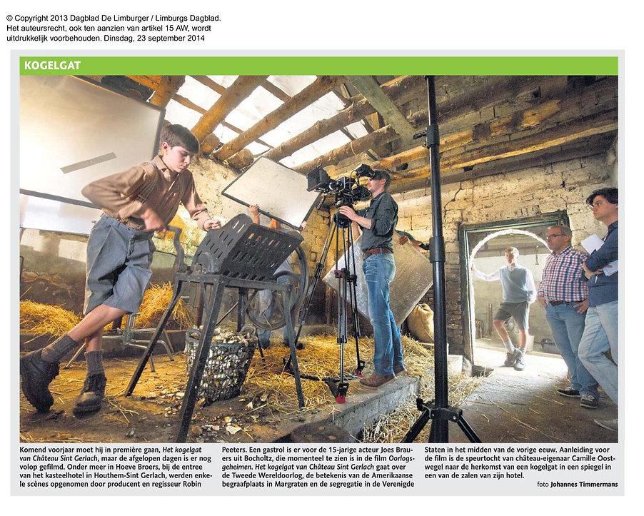 Mosasaurusfilm - Kogelgat, Dagblad De Limburger / Limburgs Dagblad