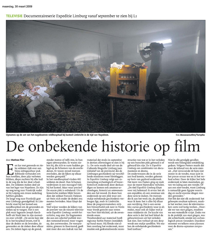 Mosasaurusfilm - De onbekende historie op film, Dagblad De Limburger / Limburgs Dagblad