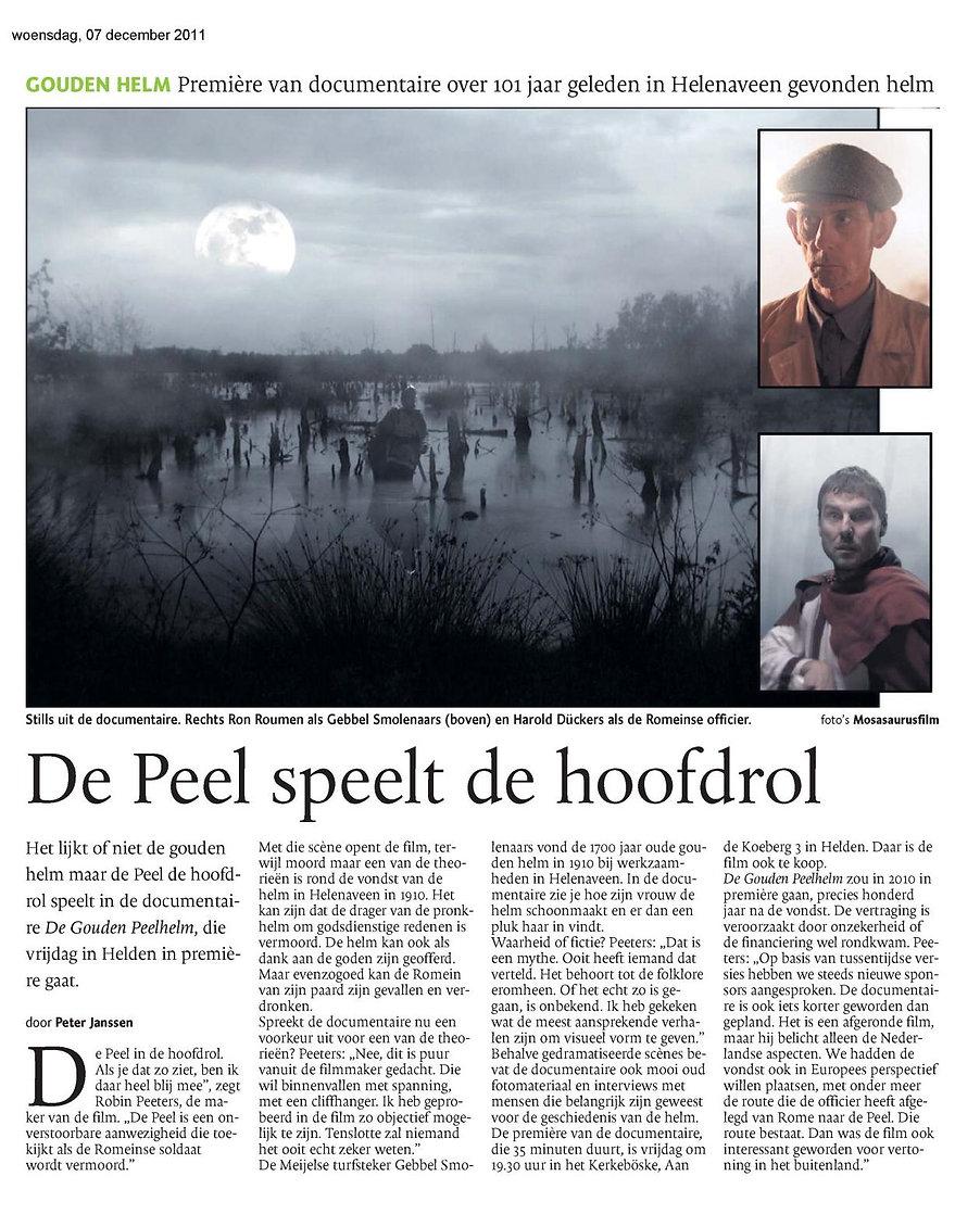 Mosasaurusfilm - De Peel speelt de hoofdrol, Dagblad De Limburger / Limburgs Dagblad