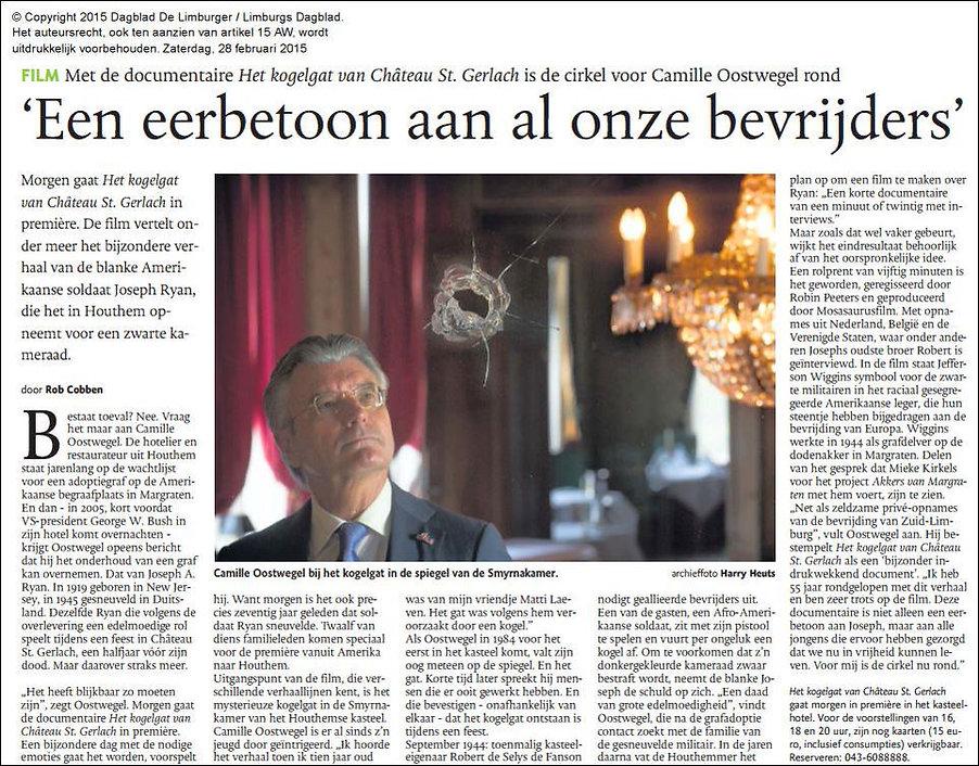 Mosasaurusfilm - Een eerbetoon aan al onze bevrijders, Dagblad De Limburger / Limburgs Dagblad