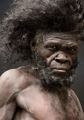 Homo Sapiens Jebel Irhoud, reconstructie door Adrie en Alfons Kennis, documentaire 'The Incredible Kennis Brothers'.