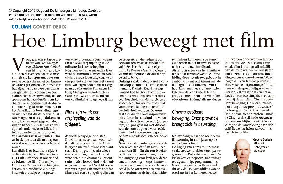 Mosasaurusfilm - Hoe Limburg beweegt met film, door Govert Derix