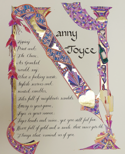 Initial N with poem