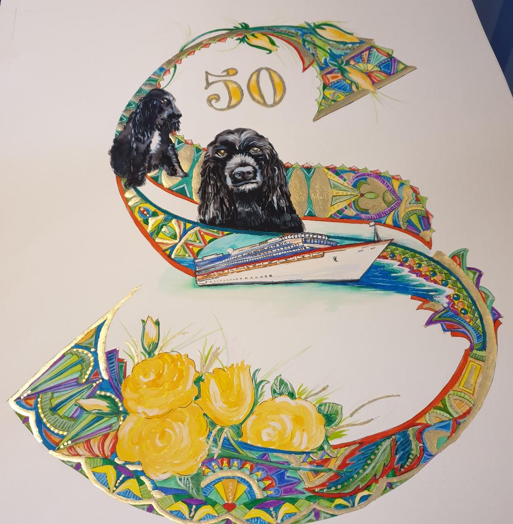 50th Birthday Initial