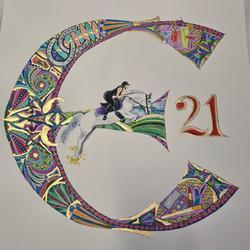 21st Birthday Initial
