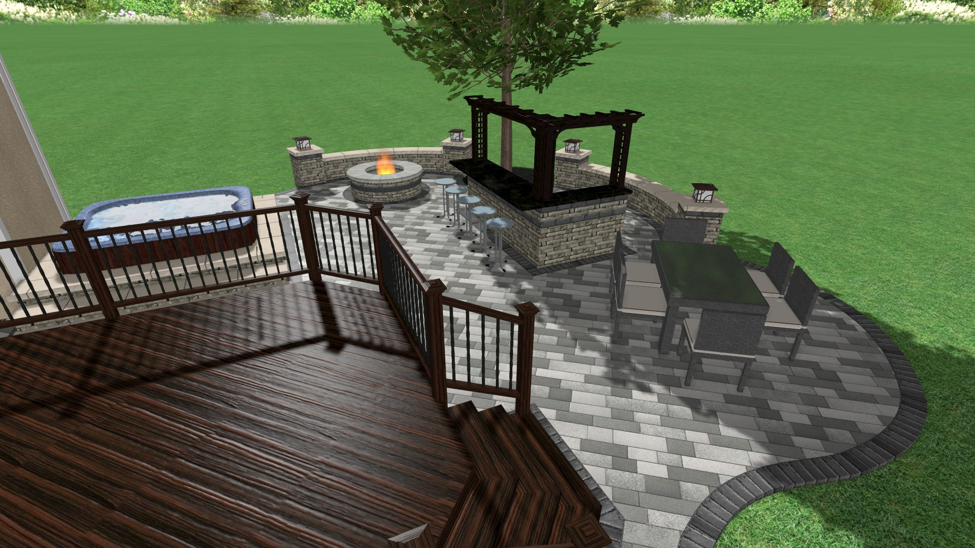 3D patio design