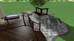 3D patio design