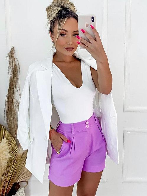 Clover Style*  Blazer+Skin-Tight Sleeveless+Skort