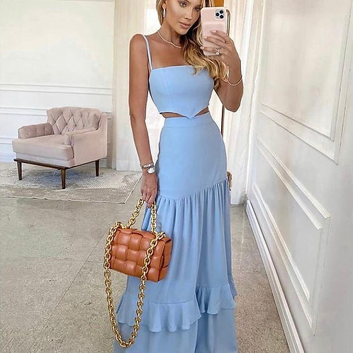 Clover Styles* Long Dress + Cropped