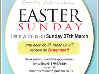 Dine with us on Easter Sunday