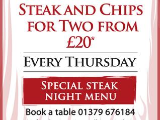 Steak Night - every Thursday!