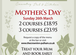 Taking bookings now for Mother's Day