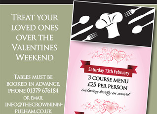 Treat your loved one - Valentine's weekend