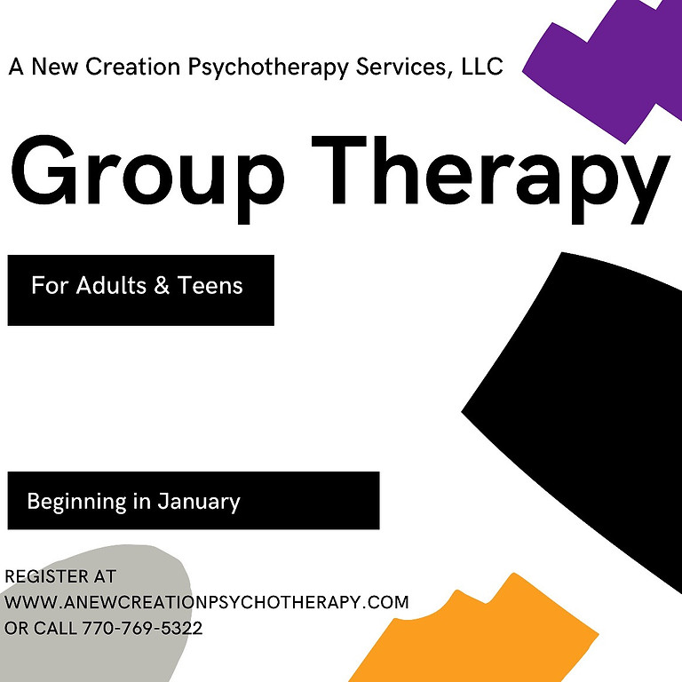 Group Therapy for Adults and Teens