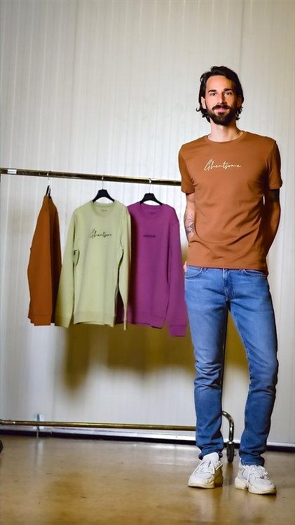 Signature T-shirt Caramel Mannen