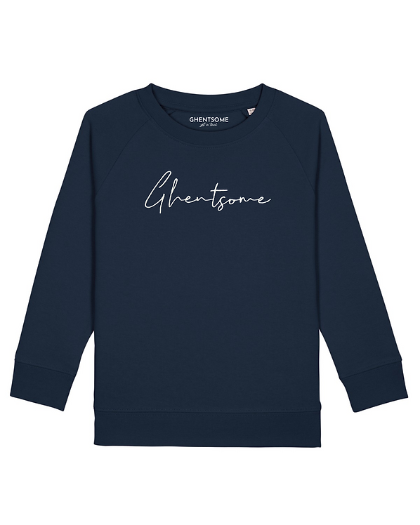 Signature Sweater Kids Navy blauw