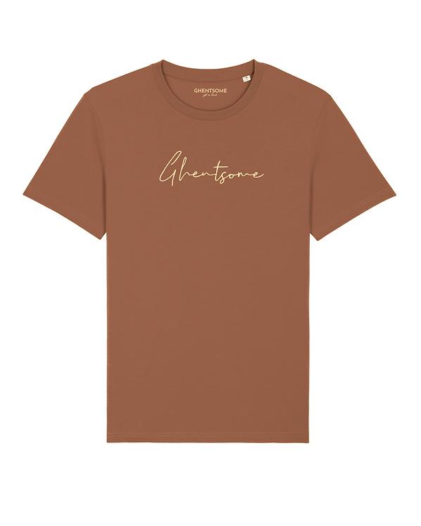 Signature T-shirt Navy Caramel