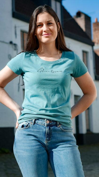 Signature T-shirt Turkoois
