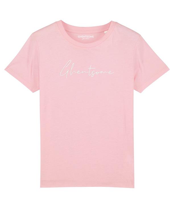Signature T-shirt Kids Roze