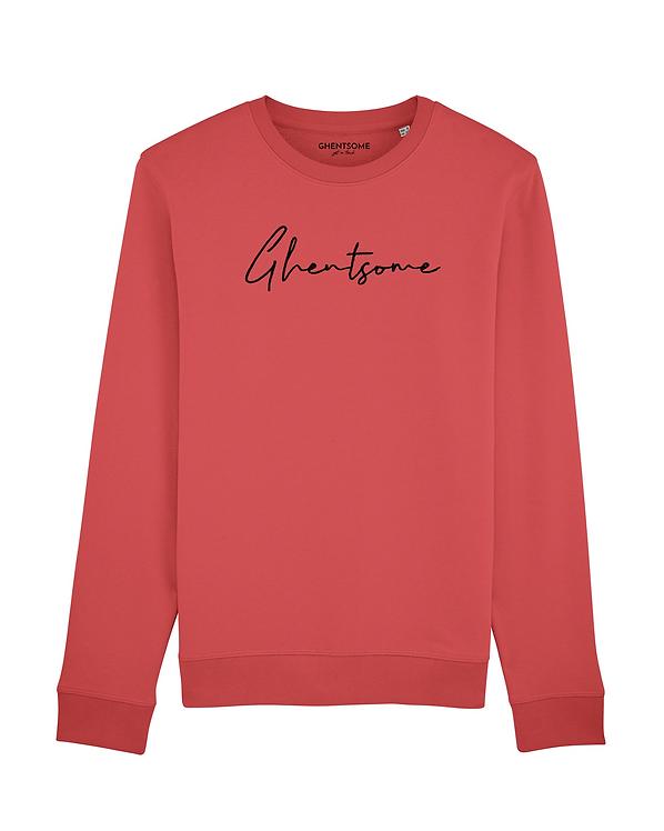 Signature Sweater Karmijnrood