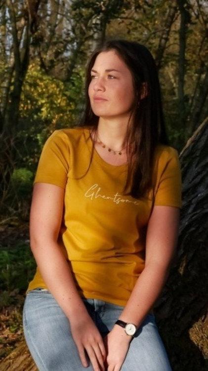 Signature T-shirt Okergeel