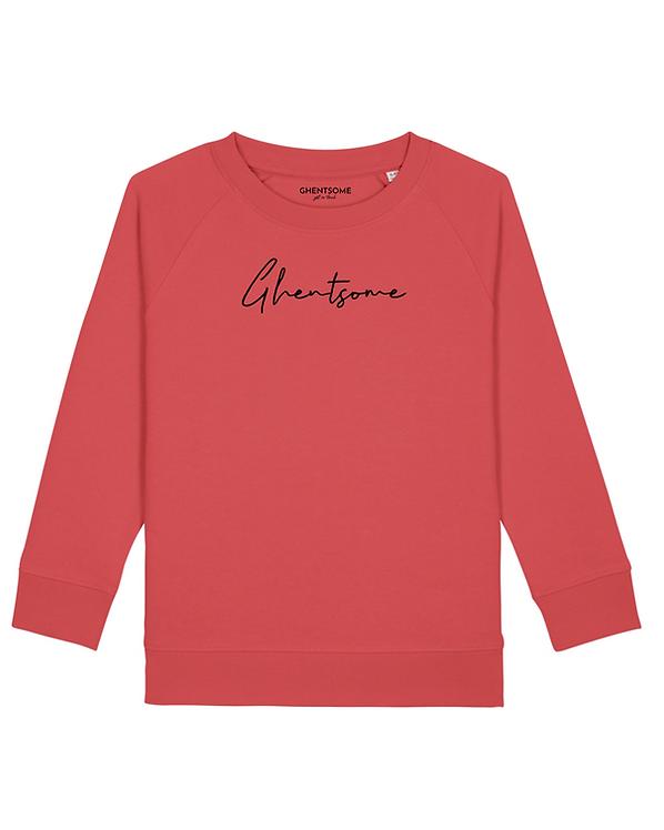 Signature Sweater Kids Karmijnrood