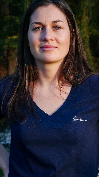 Signature V-shirt Donkerblauw