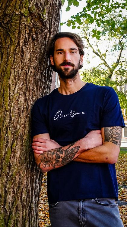 Signature T-shirt Navy Blauw
