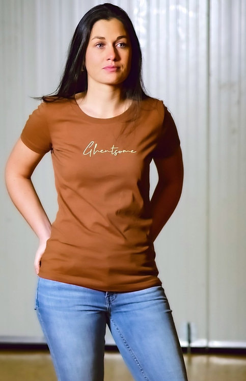 Signature T-shirt Caramel Vrouwen