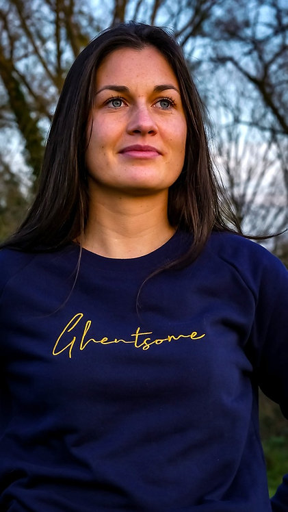 Signature Sweater Navy Goud