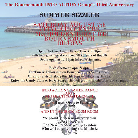 SUMMER SIZZLER -Bournemouth Into Action Group 3rd Anniversary