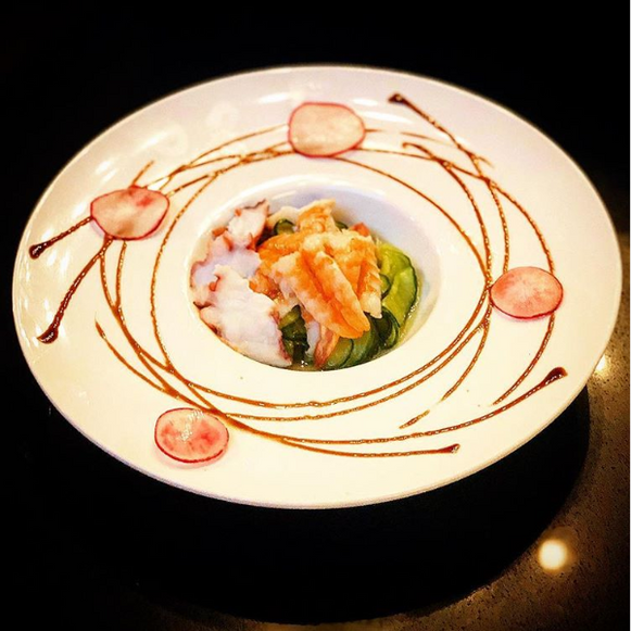 Cucumber Salad with Shrimp and Octopus